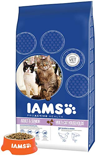 Iams Cat Food ProActive Health Multi-Cat with Norwegian Salmon and Chicken, 15 kg 6