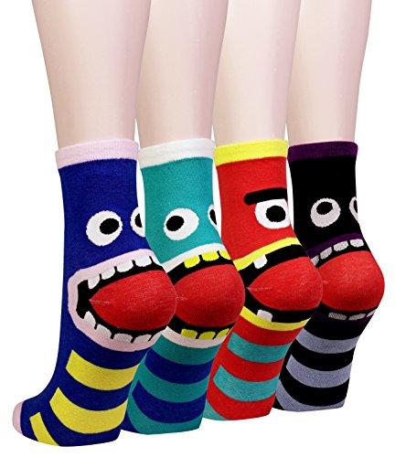 Cansok 3D 動物柄 かわいい レディースソックス ガールズ 靴下 カラフル ファッション 靴下セット カジュア...