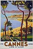 Affiche Prints TX02 Poster, Vintage-Motiv 1930er Cannes