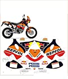 GRAPHICSMOTO set pegatinas decal stickers compatible lc4 640 adventure repsol toro (ability to customize the colors)