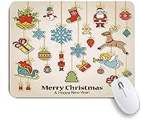 KAPANOU マウスパッド、クリスリスマスホリデーアイコンプリント おしゃれ 耐久性が良い 滑り止めゴム底 ゲーミングなど適用 マウス 用ノートブックコンピュータマウスマット