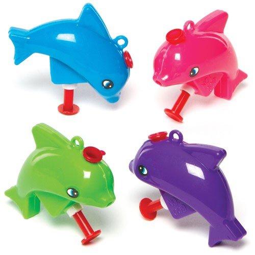 German Trendseller - 6 x Delphin Wasserspritzer ┃ Neu ┃ Mitgebsel ┃ Kindergeburtstag ┃ Kinder Pool Party ┃ Extra Spritzig ┃ Wasserpistolen ┃ 6 Stück