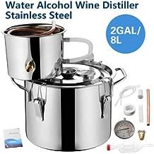 2 Gallon 8L Wine Alcohol Water Distiller Moonshine Still Boiler Stainless Copper