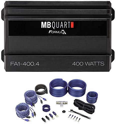 MB QUART FA1-400.4 400 Watt 4 Channel Car Audio Amplifier Class A/B+Amp Kit
