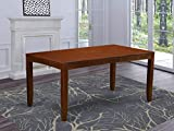 East West Furniture Lynfield Butterfly Leaf Dining Table - Espresso Table Top Surface and Espresso Finish Stylish 4 Legs Hardwood Structure Modern Dining Table