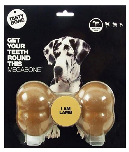 Tastybone Os à mastiquer en nylon aromatisé pour chien Mega Agneau