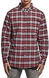 Urban Classics Plaid Cotton Shirt Camisa, Gris y Rojo, XL para Hombre