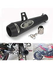 """JFG RACING Motorcycle 1.5-2""""GP Series Escape Silenciador Silenciador Escape Universal - Negro"""