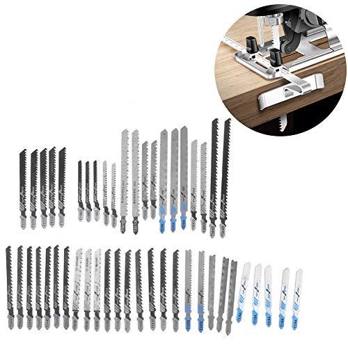 Stichsägeblatt-Set, Robustes Stichsägeblatt-Set, 48-teiliges T-Schaft-Universal-Sägeblatt-Werkzeug Feines Zahnrad-Kit für die Kunststoff-Holzbearbeitung