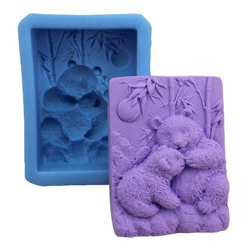 Panda Moeder en Baby 0827 Craft Art Silicone Zeep schimmel Craft Mallen DIY Handgemaakte zeep mallen