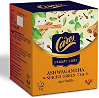 Care Ashwagandha Spiced Green Tea | Immunity Booster Herbal Tea | Detox Desi Kahwa Green Tea with Herbs Like Cinnamon,...