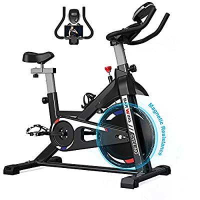 BARWING Exercise Bikes Stationary Bicycle- Indoor Cycling Bikes Fully Adjustable Workout Bikes for Home Black