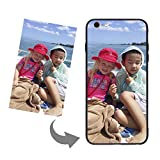 Customize Your Own Phone Case-Tempered Glass Phone Case with Soft Edge Personalized Photo Text Logo Back Cover Case Compatible with iPhone 6 Plus 6s Plus,Birthday Xmas Valentines Gift for Her and Him