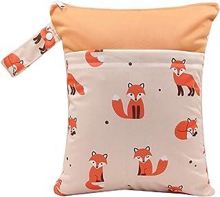 YeahiBaby YeahiBaby Windeltasche Wickeltasche mit Bügel Tragbar Wasserdicht Wiederverwendbar Fuchs