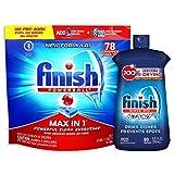 Finish - Max in 1 - 78ct - Dishwasher Detergent - Powerball - Dishwashing Tablets - Dish Tabs with Finish Jet-Dry Rinse Aid, Dishwasher Rinse Agent & Drying Agent, 8.45 Fl Oz