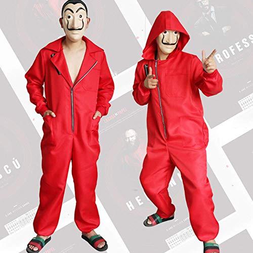 ZHANGXX Salvador Dali Film Kostuum Geld Heist Het Huis Van Papier La Casa De Papel Cosplay Halloween Party Kostuums Met Gezicht Masker