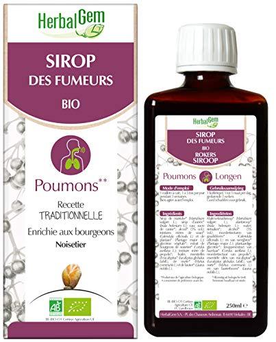 HerbalGem - Sirop des Fumeurs - Pour le bien-être respiratoire du fumeur - 250 ml