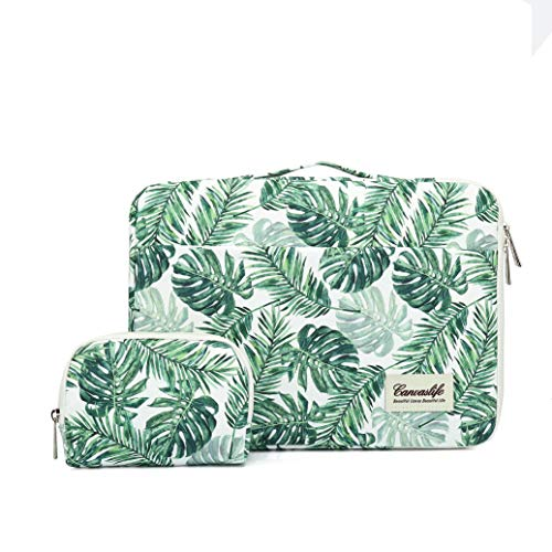 Canvaslife 360° Protective 13 inch-13.5 inch Waterproof Laptop Case Bag Sleeve with Handle for 13.3' MacBook Air | 13' MacBook Pro Retina and 13.3 inch 13.5 inch Laptop(Banana Leaf)