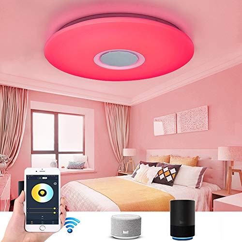 LED Musica Plafoniera Con Smart Alexa, Soggiorno 36W Wi-Fi Lampada Da Soffitto, Dimmerabile Colore RGB Con Altoparlanti Bluetooth, Telecomando, Per...
