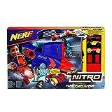 Hasbro Nerf Nitro C0788EU4 - FlashFury Chaos, Fahrzeugblasterset