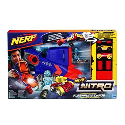 Nerf Nitro C0788 Flashfury Chaos + 3 samochody Hasbro