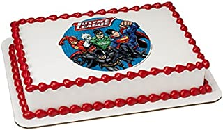Whimsical Practicality Justice League Edible Icing Image Cake Topper, 7.5
