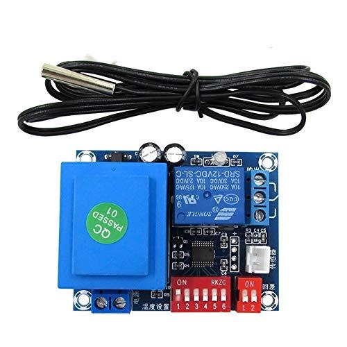 Controlador de temperatura digital XH-W1705 12V Interruptor de control de temperatura ajustable Código de marcación Interruptor de control de temperatura Alta precisión 2 grado Valor de paso Controlle