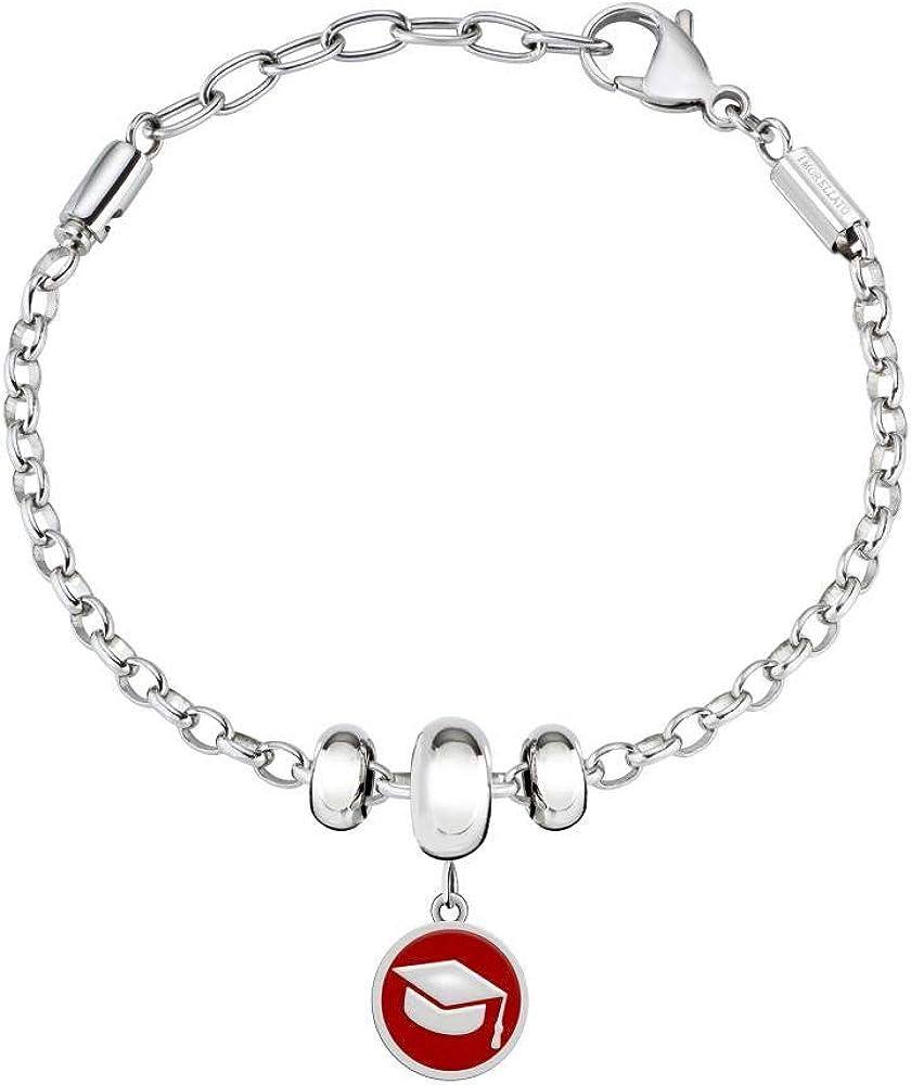 Morellato, bracciale con charm,da donna,in acciaio_inossidabile SCZ966