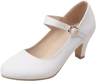 VulusValas Femmes Mode Talons Mary Jane Chaussures