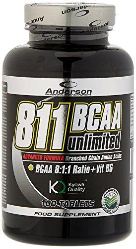 Anderson 811 BCAA Unlimited Kyowa Integratore Aminoacidi Ramificati 811 con Vitamina B6 - 100 Compresse da 1.2g
