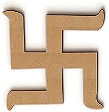 Bhaiji Enterprises Wooden Swastik Shape Pieces (4 x 4 inch, 12 Unfinished Pieces)