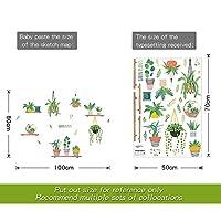 部屋の壁のステッカーの花のキッチンPVC壁はDIYの装飾デカール生活のための庭の植物盆栽家の装飾壁のステッカー (Color : E)