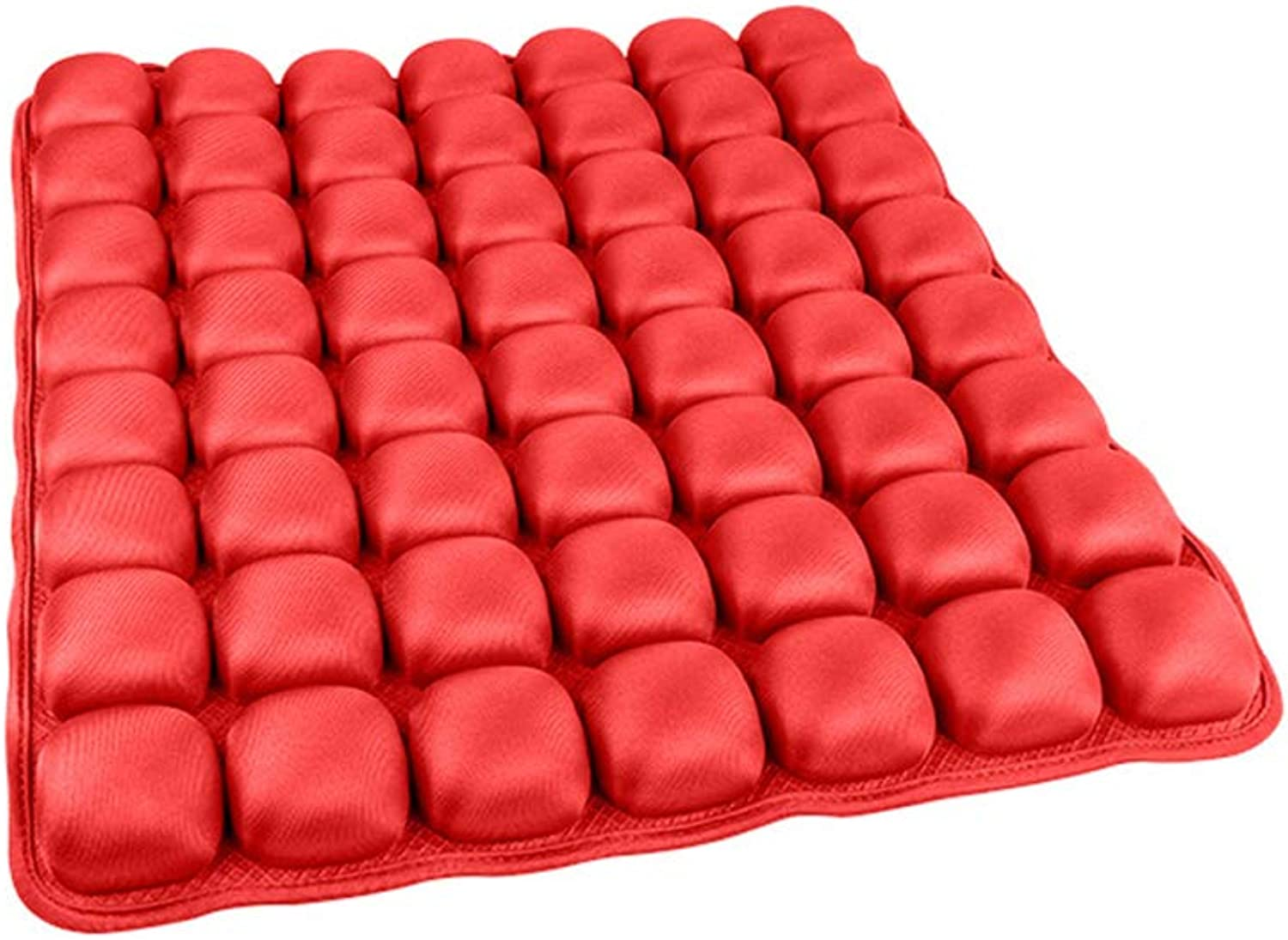 Air Cushion, Car Inflatable Cushion, Office Seat Cushion, 3D Ventilation, Pressure Relief, Soft Comfortable, Suitable for Home Office Car,Red