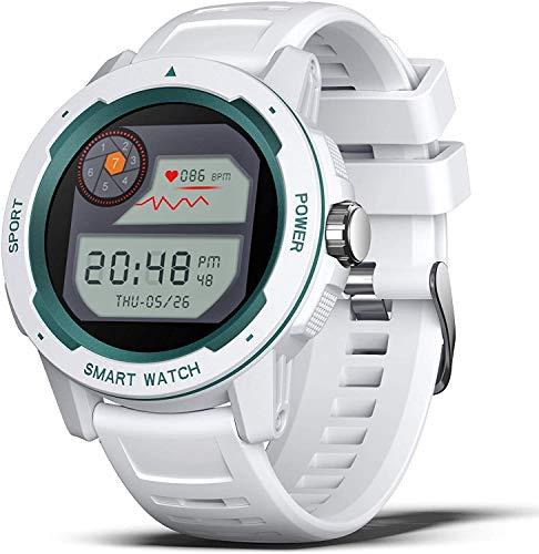 YSNJG Fitness Smart Watch con Monitor De Ritmo Cardíaco, Rastreo De Actividades De Moda para Deportes Al Aire Libre,Blanco