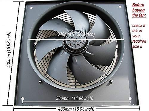 METAL Industrial Estrattore Ventola 200mm Heavy Duty Comercial Ventilatore Soffiatore
