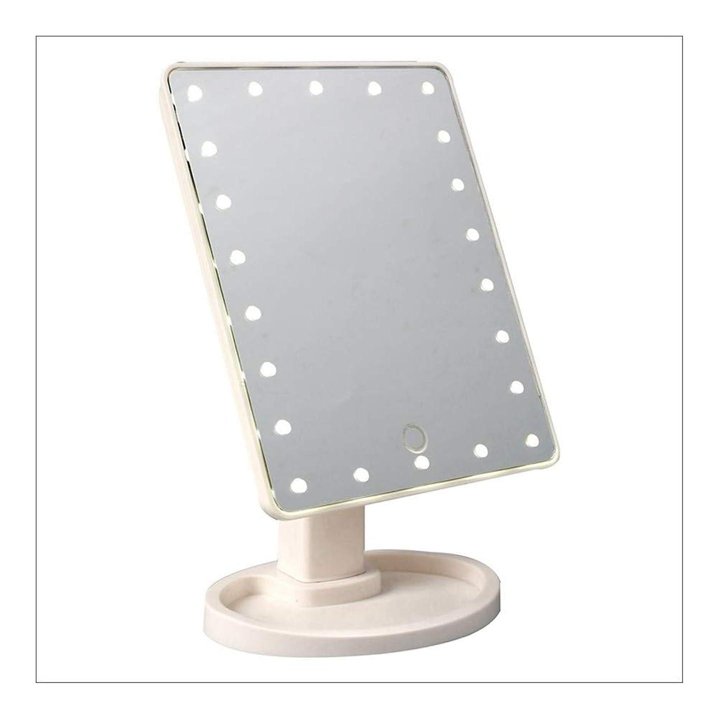 駐地故意のファーム大型照明付き化粧鏡、22のLEDライト、プレススクリーン調光360とメイクバニティミラー°回転