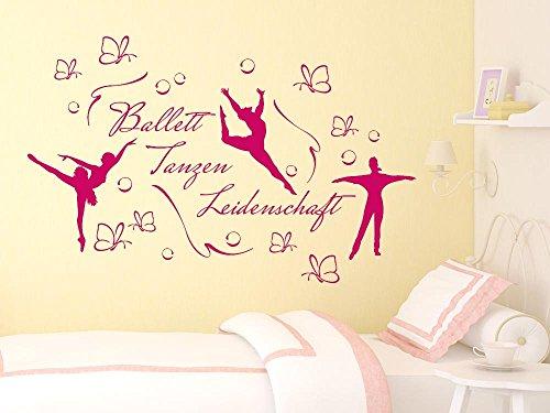GRAZDesign Muurtattoo meisjes ballet school set - muurontwerp Muursticker Muursticker Meisjeskamer Danzer Ballerina / 770098 056, lichtblauw