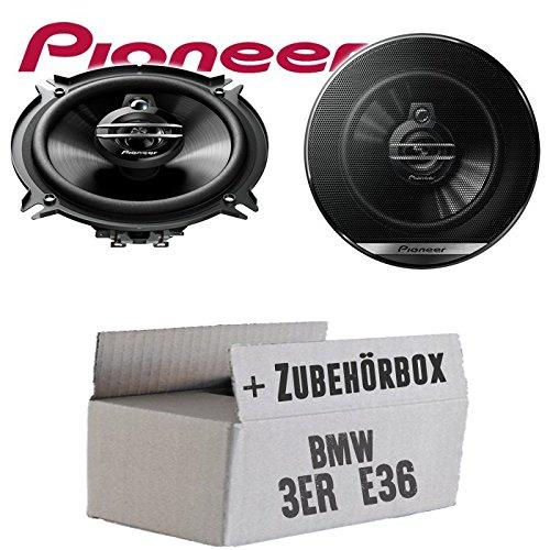 BMW 3er E36 Front - Lautsprecher Boxen Pioneer TS-G1330F - 13cm 3-Wege 130mm Triaxe 250W Auto Einbausatz - Einbauset