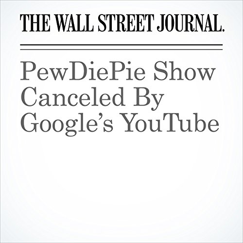 PewDiePie Show Canceled By Google's YouTube copertina