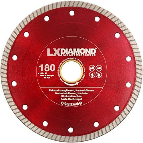 LXDIAMOND Disco de corte de diamante 180 mm x 30 mm para
