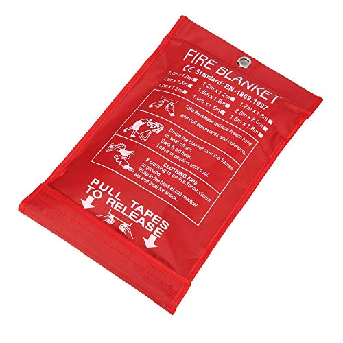 Fire Blanket Kitchen, Fire Blanket Fire Suppression Blanket, Fire Blanket Emergency, Emergency Survival Safety Cover for Kitchen, Fiberglass Blanket 39x39 inches, by C Crystal Lemon