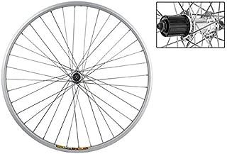Wheel Master 700c Rear Wheel - Quick-Release, 36H, 8-Speed Cassette Hub, Silver/Silver/Steel