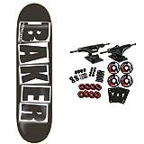 BAKER Skateboard Complete Logo Black/White 8.125'