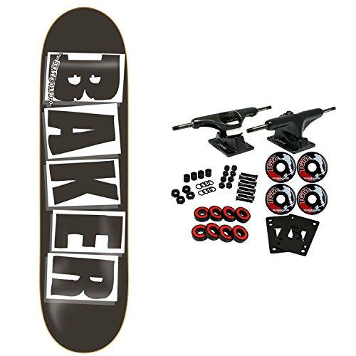 Baker Skateboards Komplettes Logo schwarz/weiß 21,5 cm OG Form