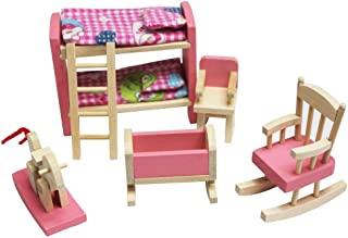 Kid Wooden Pretend Play Furniture toy Doll Accessories Furniture Dolls House Miniature