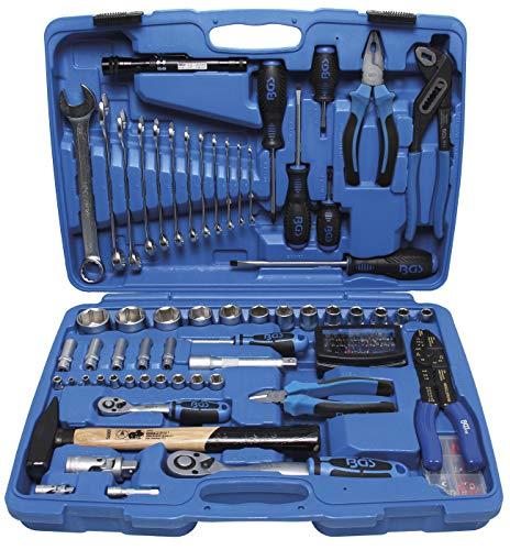 BGS 9029 | Steckschlüssel-Werkzeugkoffer | 117-tlg | gefüllt | Knarren-, Nuss-, Ratschen-Kasten