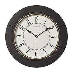 Bulova Espresso C4256 Silent Wall Clock, 9.75