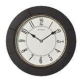 Bulova C4256 Silent Espresso Wall Clock, 9.75