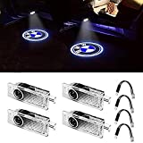 KRADA Car Door Light LED Logo Projector Ghost Shadow Welcome Light Emblem Accessories Courtesy Step Lights for BMW 3 5 6 7 Z GT Mini Series Symbol Light Kit Replacement (4-pack)