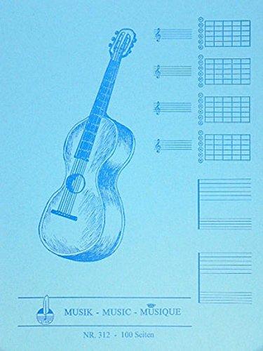 Notenblock Fuer Gitarre Mit Tabulatur